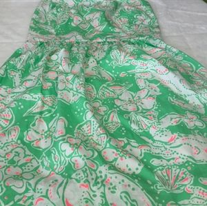 Lilly Pulitzer strapless sun dress NEW